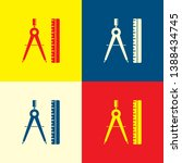 design icon. yellow  blue and...