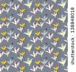 birds as flowers. seamless... | Shutterstock . vector #138848018