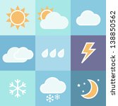 Colorful Weather Icons Set For...