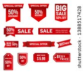 sale offer special discount tag ... | Shutterstock .eps vector #1388517428