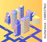 futuristic city isometric... | Shutterstock .eps vector #1388527862