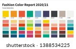 fashion color trend 2020 2021.... | Shutterstock .eps vector #1388534225