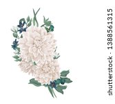 vector floral bouquet design ... | Shutterstock .eps vector #1388561315