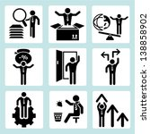 business icons  business... | Shutterstock .eps vector #138858902