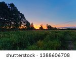 landscape with coloful sunset... | Shutterstock . vector #1388606708