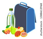 lunchbox to school icon....   Shutterstock .eps vector #1388613968