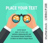 binoculars business concept... | Shutterstock .eps vector #1388619188