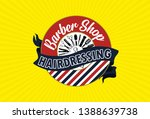 barbershop brand design for... | Shutterstock .eps vector #1388639738