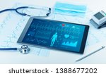 live medical screening with... | Shutterstock . vector #1388677202
