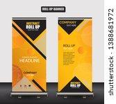 roll up business brochure flyer ... | Shutterstock .eps vector #1388681972