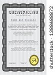 black certificate diploma or... | Shutterstock .eps vector #1388688872