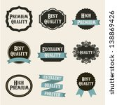 premium quality labels over... | Shutterstock .eps vector #138869426