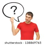 picture of man with text bubble ... | Shutterstock . vector #138869765