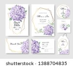 set of wedding invitation card... | Shutterstock .eps vector #1388704835