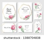 set of wedding invitation card... | Shutterstock .eps vector #1388704838