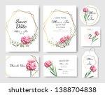 set of wedding invitation card... | Shutterstock .eps vector #1388704838