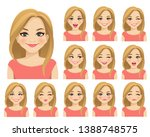 blond woman with different... | Shutterstock .eps vector #1388748575