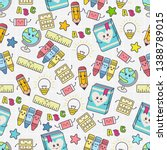 seamless pattern with cute... | Shutterstock .eps vector #1388789015