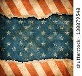 grunge ripped paper usa flag... | Shutterstock . vector #138879548