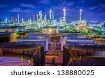 landscape of oil refinery... | Shutterstock . vector #138880025