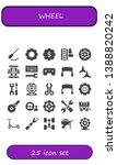 wheel icon set. 25 filled wheel ...   Shutterstock .eps vector #1388820242