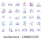 a large set of business scenes... | Shutterstock .eps vector #1388821235