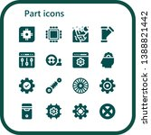part icon set. 16 filled part...   Shutterstock .eps vector #1388821442