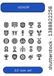 honor icon set. 25 filled honor ... | Shutterstock .eps vector #1388822258