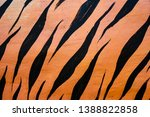 tiger stripes painted on the... | Shutterstock . vector #1388822858