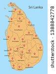 district map of sri lanka | Shutterstock .eps vector #1388842778
