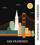 San Francisco California USA. Vector - stock vector
