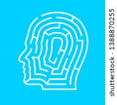 maze in the shape of a human... | Shutterstock .eps vector #1388870255