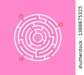 labyrinth shape design element. ... | Shutterstock .eps vector #1388875325