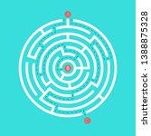 labyrinth shape design element. ... | Shutterstock .eps vector #1388875328
