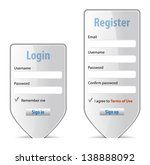login form website interface... | Shutterstock .eps vector #138888092