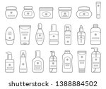 set of different cosmetic...   Shutterstock .eps vector #1388884502
