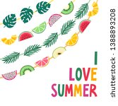 vector summer background with... | Shutterstock .eps vector #1388893208