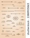 huge rosette wicker border... | Shutterstock .eps vector #1388905865