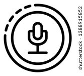 microphone in the circle icon.... | Shutterstock .eps vector #1388915852
