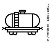 fuel rail car icon. outline... | Shutterstock .eps vector #1388918522