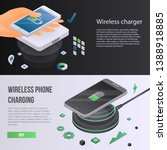 wireless charger phone banner... | Shutterstock .eps vector #1388918885