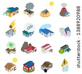 dangerous environment icons set.... | Shutterstock .eps vector #1388920988
