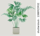 illustration of green plant in... | Shutterstock .eps vector #1388925932