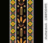 folk ethnic traditional... | Shutterstock .eps vector #1388930495