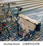Small photo of Tampere, Finland - April 25, 2019: The Kona Ute bicycle is a longtail cargo carrier. A longtail in the Ute makes for a stiffer set up because the frame is all one piece.