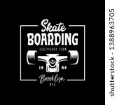 skateboarding t shirt design....   Shutterstock .eps vector #1388963705