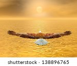 Eagle Flying To The Sun By...
