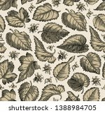 seamless pattern. beautiful... | Shutterstock .eps vector #1388984705