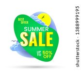 summer sale banner  best offer  ... | Shutterstock .eps vector #1388999195