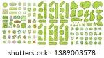 green fence  trees  bushes ...   Shutterstock .eps vector #1389003578